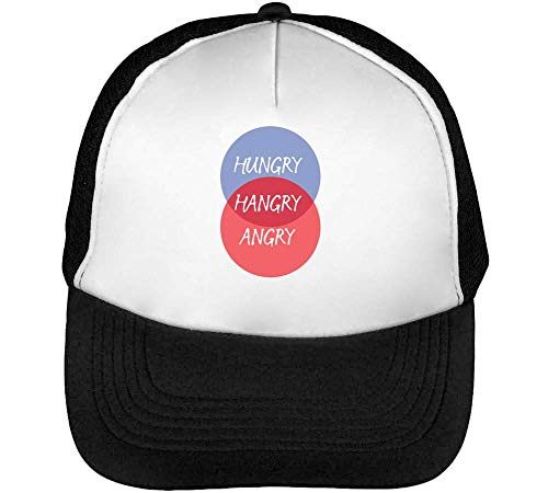 Beisbol Hungry Hombre Angry Blanco Hangry Negro Snapback Gorras qgqZ1wnH