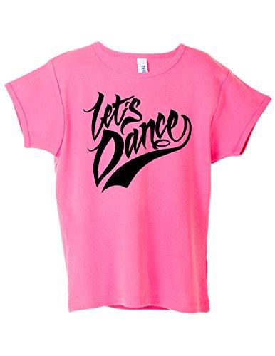 "Activewear Apparel Dance Girls ""Let's Dance"" T-Shirt (Medium 10-12, Let's Dance Pink)"