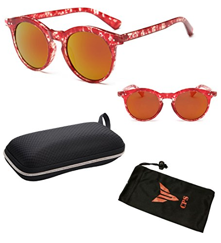 (#SUN-RD99 Red) Vintage Outdoor Designer Celebrity Steampunk Horned Retro Sunglasses Eyewear Glasses Sunglass + Free Hard - Turtle Shell Sunglasses