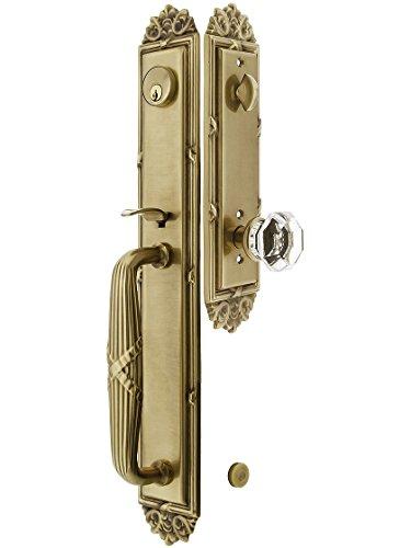 old brass door handle - 6