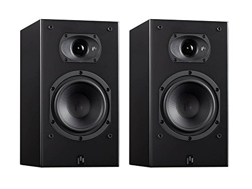 (Aperion Audio Intimus 5B Bookshelf Satellite Surround Speakers, Passive Need Amplifier or Receiver, 5.25-Inch Fiber Glass Woofer and Silk Dome Tweeter (Pair Stealth Black))