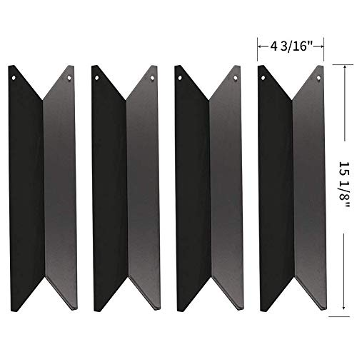 720 Steel Lock - SHINESTAR Grill Replacement Parts for Nexgrill 720-0649, 720-0341, 720-0549, Kenmore 122.16119, 122.16129, 4-Pack Porcelain Steel 15 1/8 inch Heat Shield Tent Plate Flame Tamer Burner Cover (SS-HP022)