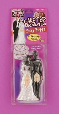 Gift Set Of Bridal Cake Top Sexy Butts And one Screaming O Ultimate Disposable Vibrating Ring by Forum Novelties
