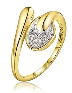 Fashion 18k Gold Plated Cubic Zircon Elegant Crown Ring