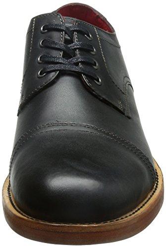 Base London Vanguard Zapatos de cuero para hombre Black