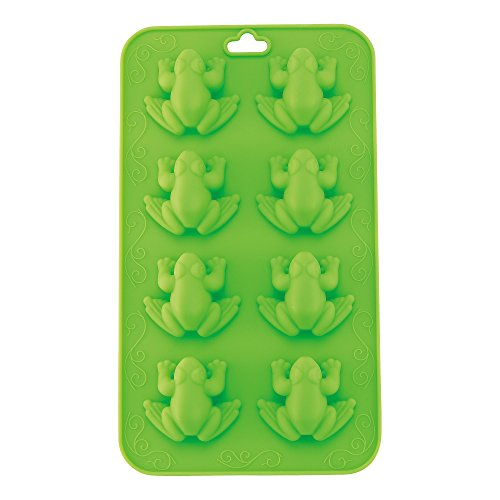 Passover Silicone Frog Molds - Chocolate, Candy, Jelly and Ice Tray in Fun 10 POlague Frog Shape - Pesach Seder and Kitchen Accessories by The Kosher Cook