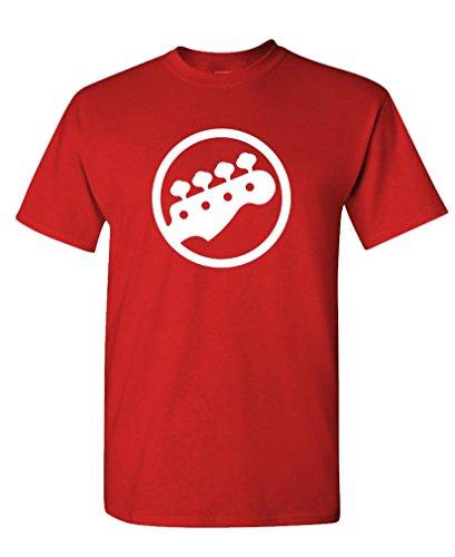 BASS Tuning PEGS - Guitar Rock Hip hop Tee Shirt T-Shirt, M, Red ()