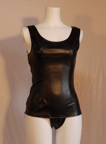 Fake leather old school swimsuit and old disk (SR08) black L No. (japan import) by Fun Club Co., Ltd.