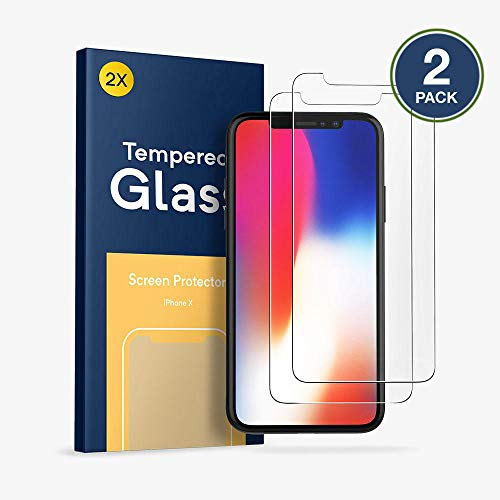 (Screen Protector Apple iPhone X [2 Pack], GadgetMarket 2.5D Edge 9H Hardness HD Tempered Glass Screen Protector [Anti-Scratch-Crystal Clear] [5.8