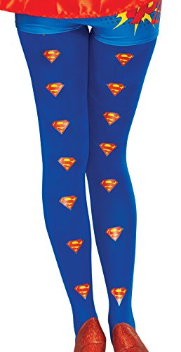 [Rubie's Women's Dc Comics Supergirl Tights, Multi, One Size] (Super Easy Character Costumes)