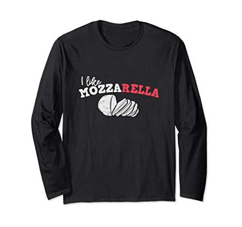 Buffalo Mozzarella Caprese Cheeses Funny Mozz Gift Woman Man Long Sleeve T-Shirt ()