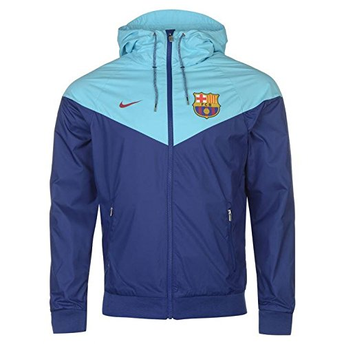 2017-2018 Barcelona Nike Authentic Windrunner Jacket (Royal Blue)