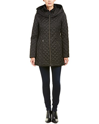 Laundry Quilted Coat (Laundry by Shelli Segal Womens Quilted Coat, Xs, Black)