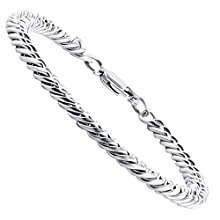 Men's Heavy Thick Stainless Steel Silver Tone Chain Bracelet