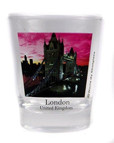 London England Tower Bridge Color Photo Shot Glass