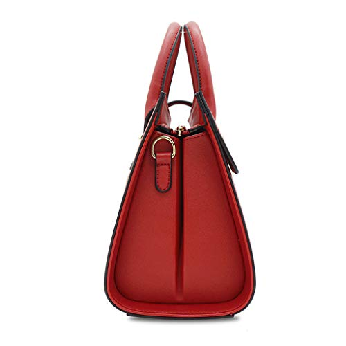 à à main sac sac Vin dames carré simple Rouge mode bandoulière Sac à de bandoulière CTqTH