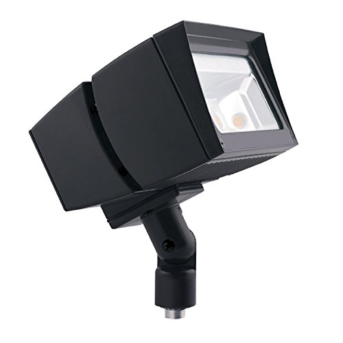 RAB Lighting FFLED26 LED Floodlight, NEMA 7H x 6V Beam Spread, Arm Mounted, Standard Type, 5000 K (Cool) Color Temp, 26W, Bronze Finish by RAB Lighting