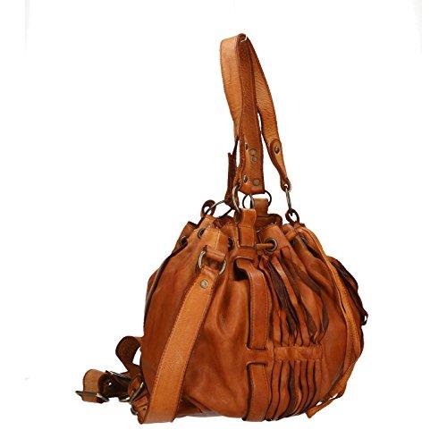 Chicca Borse Luxury Edition Shoulder Bag Vintage Borsa a Spalla da Donna in Vera Pelle 100% Genuine Leather 40x27x14 Cm Descuento Del Precio Más Bajo XOUx4uX7