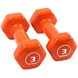 Pair of 3lb Thick Vinyl Coated Body Hex Hand Weights