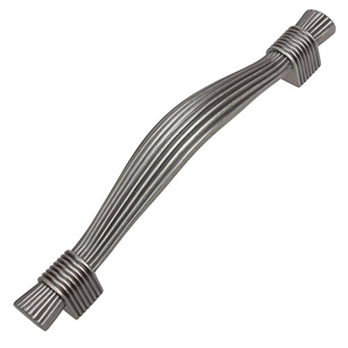 "901683-128-AP-10 - GlideRite Hardware 5"" CC Tassel Aged Pewter Cabinet Pulls (Pack of ()"