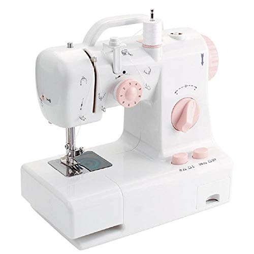 - Mini Sewing Machine Built-in Light Household Multi-Function Crafting Mending Machine Design Easily Carried EU US Plug (EU Plug)