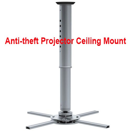 Cmple - Projector Ceiling Mount for DLP/LCD Video Projectors - adjustable height up to 23.6'', max weight 44 LB, Silve