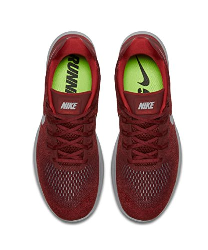 Nike Herren Free RN 2017 Laufschuhe Rot (Team Red/tough Red/university Red/wolf Grey)
