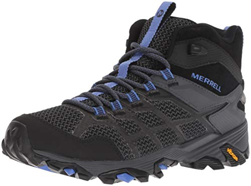 Merrell Women's Moab FST 2 MID Waterproof Hiking Shoe, Black/Granite, 09.5 M US
