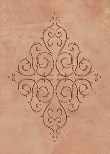 - Embossed French Diamond Medallion Wall Stencil SKU #3417E by Designer Stencils