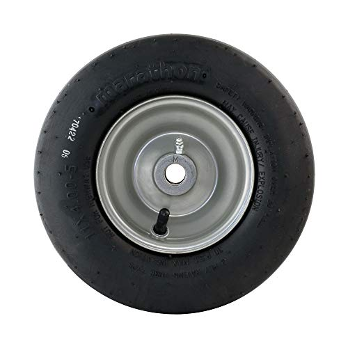 MARASTAR 20402 Universal Fit 11×4.00-5 Lawnmower Tire/Wheel Assembly
