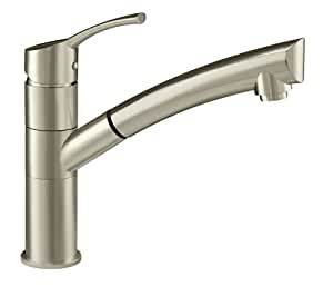 kitchen faucets stainless steel pull out danze dh450277ss lime light single handle pull out kitchen 24694