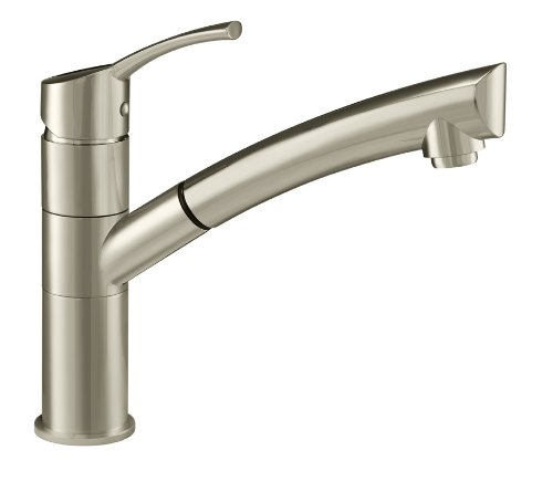 Danze DH450277SS Lime Light Single Handle Pull-Out Kitchen Faucet, Stainless Steel