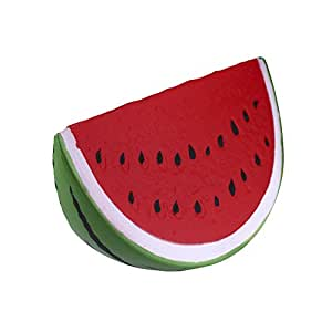 Xinzistar Kawaii Jumbo Slow Rising Squishies Cream Scented Squeeze Kid Toy Phone Charm Gift for Stress Relief (Watermelon)