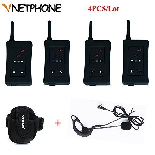 Vnetphone Football Referee Intercom Headset FBIM 1200M Wireless Full Duplex Bluetooth Interphone with FM 800mah 4 sets/lot (4 800 Mah Mobile)