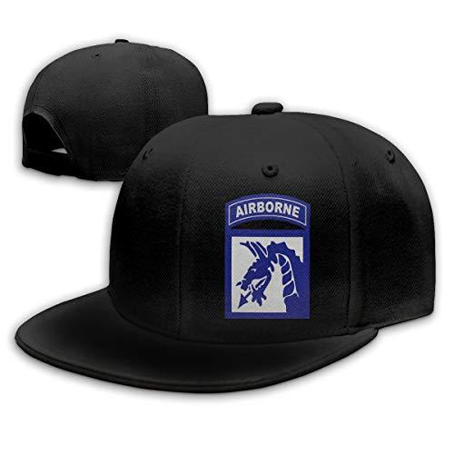 GDPOOL 18th Airborne Corps Hat Hip Hop Snapback Baseball Cap Black