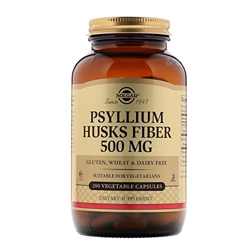 (Solgar - Psyllium Husks Fiber 500 mg, 200 Vegetable Capsules)