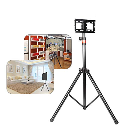 "WUPYI TV Stand,Portable Tripod TV Stand Floor TV Stand Foldable Monitor Stand LCD Flat Panel Monitor Mount Height Adjustable 0.9-1.7m Fit 18""-32"" Screen for Home Office Classroom"