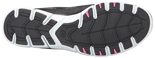 Skechers Sport Damen Gratis Bungee Fashion Sneaker Schwarz / Rosa / Weiß