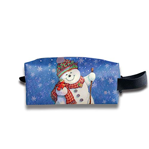 Toiletry Bag Bear Snowman Shaving Cosmetic Makeup Storage Travel Sundry Sewing Organizer Portable With Handle -