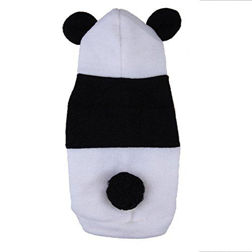 SODIAL(R) Cute panda parka cosplay dog ??clothes dog wear (S)