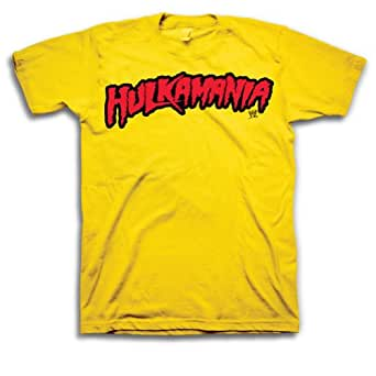 WWE Hulk Hogan Hulkamania Men's T-shirt, Gold M [Apparel]