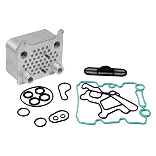 Engine Oil Cooler Kit - Fits Ford Powerstroke 6.0L V8 F250, F-350, F450, F550 Super Duty, Excursion, E350, E-450 - Replaces Part# 3C3Z 6A642 CA, 904228, 904-228, 015339, OCK388 - Viton Gasket Seal Kit