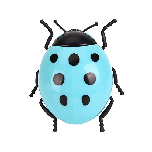 Baby LED Plug In Animal Cartoon Sensor Night Light for Kids Toddler by Smartdude (Blue Ladybug)