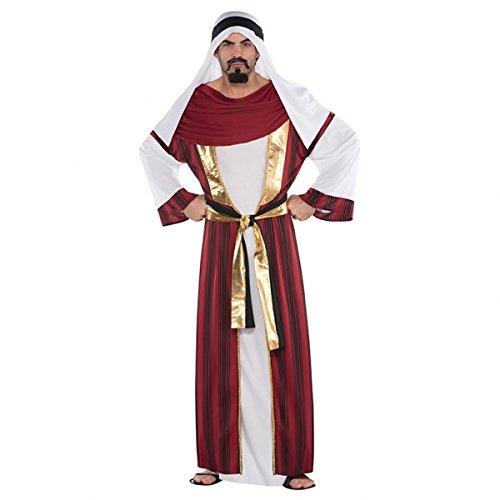 amscan Standard Adult Sahara Prince Costume, Multicolor