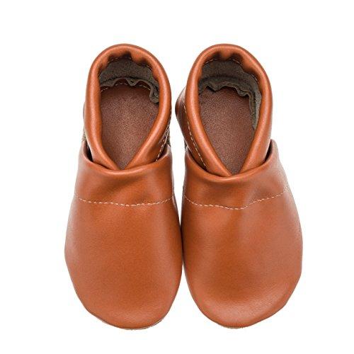 pelle 36 arancione per Pantau donna tinta e uomo Eu unita 45 in Pantofole xCqXwF5q4