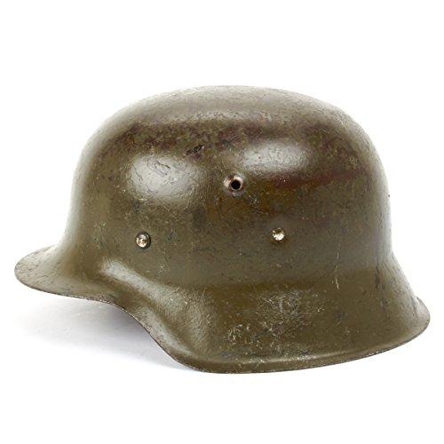 (Original German WWII M42 Stahlhelm Steel Helmet- Shell Size 64, Maker Marked)