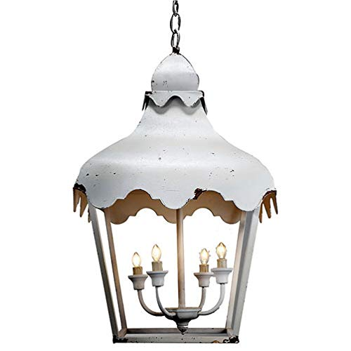 A&B Home Metal Chandelier, White
