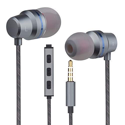 earbuds headphones with microphone mic stereo volume