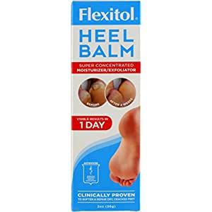 Flexitol  Heel Balm, 4 Oz Tube:  Rich Moisturizing and Exfoliating Foot Cream for Rough, Dry, and Cracked Skin.