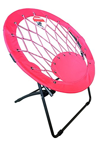 Pearington Folding Portable Outdoor/ Indoor Sports Bungee Chair 26L x 32W x 33H, Red